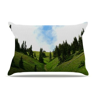 Going to the Mountains by Robin Dickinson Green Featherweight Pillow Sham