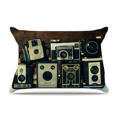 Through the Years by Robin Dickinson Vintage Camera Featherweight Pillow Sham