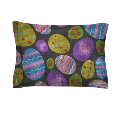 Eggs by Snap Studio Pastel Easter Cotton Pillow Sham
