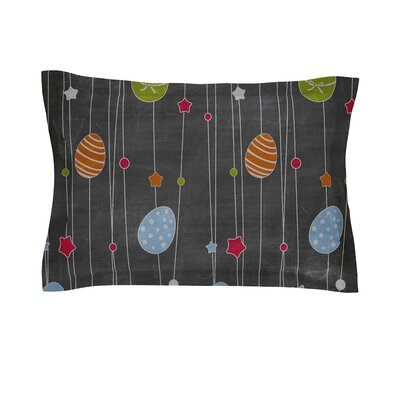 Chalk Eggs Easter Cotton Pillow Sham