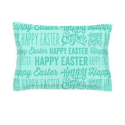 Happy Easter Typography Cotton Pillow Sham