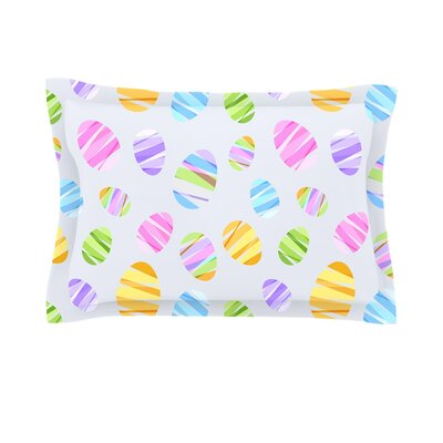 Pastel Eggs Easter Pastels Cotton Pillow Sham