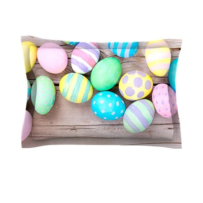 Springtime Easter Eggs Cotton Pillow Sham