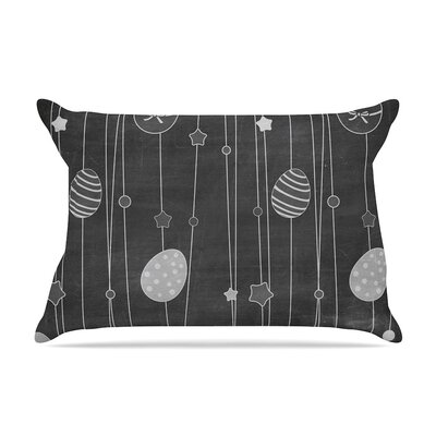 Chalk Eggs Gray Eggs Cotton Pillow Sham