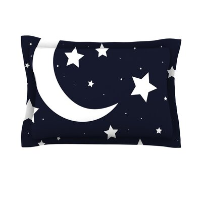 Moon & Stars White Featherweight Pillow Sham
