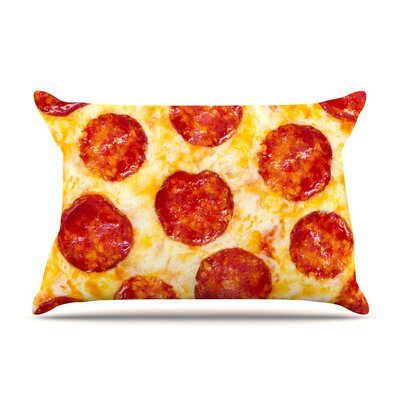 Pizza My Heart Pepperoni Cheese Cotton Pillow Sham