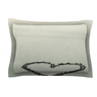 I Love The Beach by Robin Dickinson Ocean Sand Cotton Pillow Sham