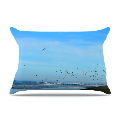 Beach Hair Coastal by Robin Dickinson Cotton Pillow Sham