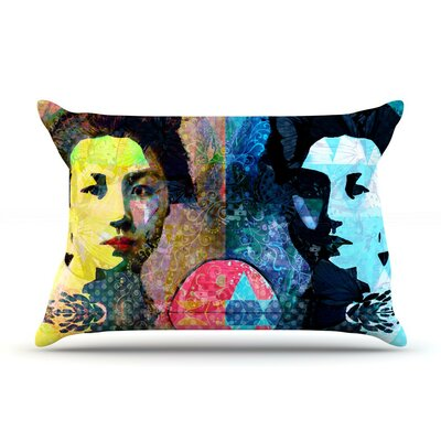 Kimono Girl by Suzanne Carter Blue Featherweight Pillow Sham
