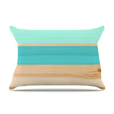 Spring Swatch - Blue Green Wood Featherweight Pillow Sham