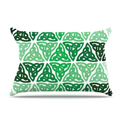 Celtic Knot Forest Mint Featherweight Pillow Sham