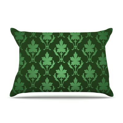 Emerald Damask Cotton Pillow Sham