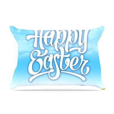 Happy Easter II Springtime Cotton Pillow Sham