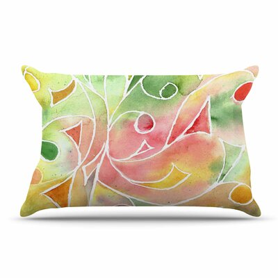 Gift Wrap by Rosie Multicolor Pastel Featherweight Pillow Sham