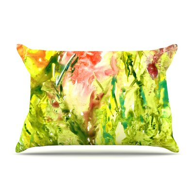 Thumb Paint Lime by Rosie Brown Cotton Pillow Sham
