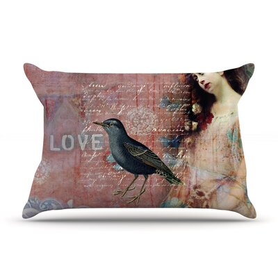 Faith Hope Love Typography by Suzanne Carter Cotton Pillow Sham