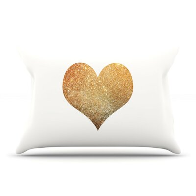 Gold Heart by Suzanne Carter Cotton Pillow Sham