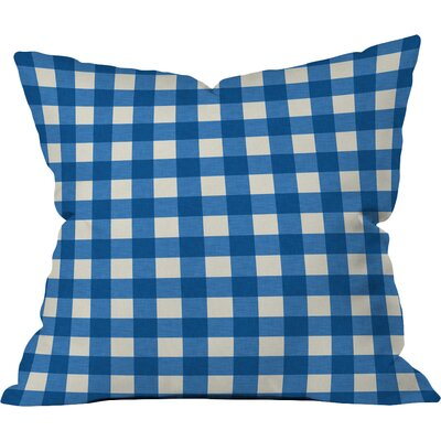 Gingham Outdoor Throw Pillow Size: 18 H x 18 W x 5 D