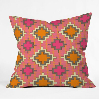 Tangerine Kilim Outdoor Throw Pillow Size: 16 H x 16 W x 4 D