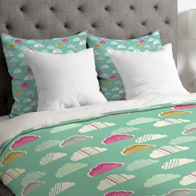 Petite Clouds Duvet Cover Size: King