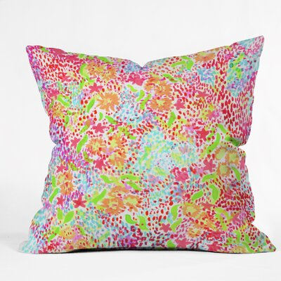 Joy Laforme Throw Pillow Size: 16 H x 16 W x 4 D