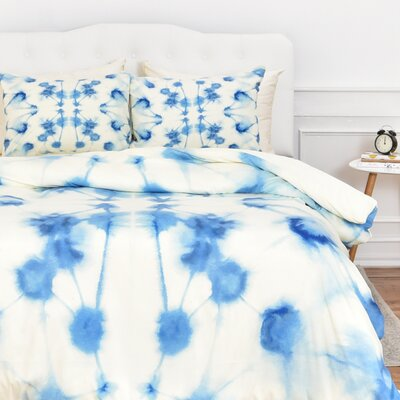 Mirror Dye Duvet Cover Size: Twin
