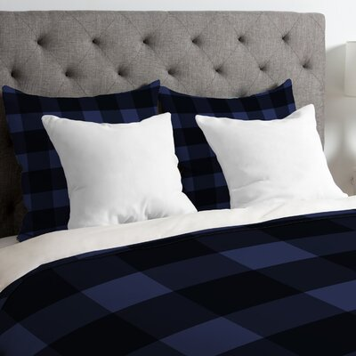 Plaid Duvet Cover Size: King