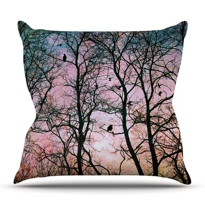 The Birds by Sylvia Cook Outdoor Throw Pillow
