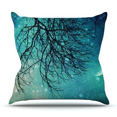 Winter Moon by Sylvia Cook Outdoor Throw Pillow