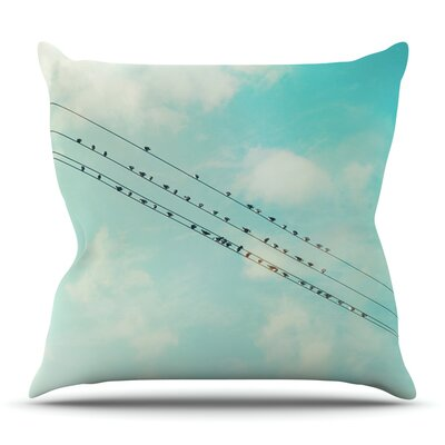 Birds on Wires by Sylvia Cook Outdoor Throw Pillow
