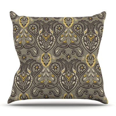 Vintage Damask by Suzie Tremel Outdoor Throw Pillow
