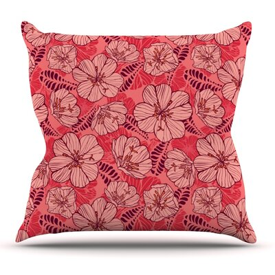 Flutter Floral by Suzie Tremel Outdoor Throw Pillow