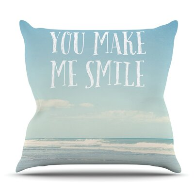 You Make Me Smile by Susannah Tucker Outdoor Throw Pillow