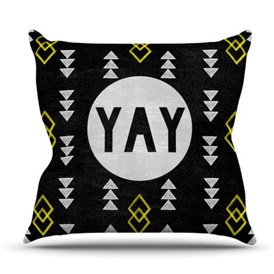 Yay by Skye Zambrana Outdoor Throw Pillow