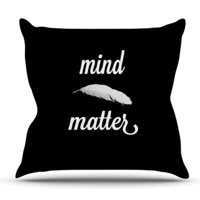 Mind Over Matter by Skye Zambrana Outdoor Throw Pillow