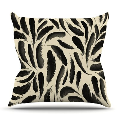Feather Pattern by Skye Zambrana Outdoor Throw Pillow
