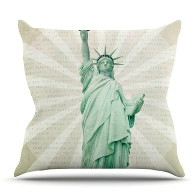 The Lady by Catherine McDonald Outdoor Throw Pillow