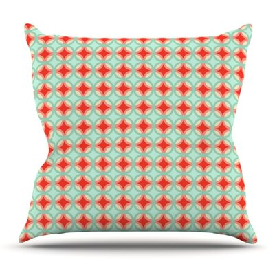 Retro Circles by Catherine McDonald Outdoor Throw Pillow