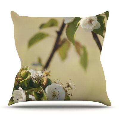 Pear Blossom by Catherine McDonald Outdoor Throw Pillow