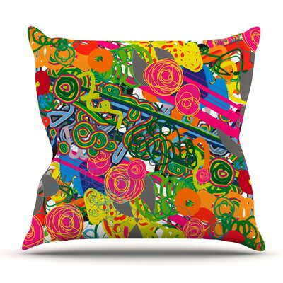 Psychedelic Garden by Frederic Levy-Hadida Outdoor Throw Pillow