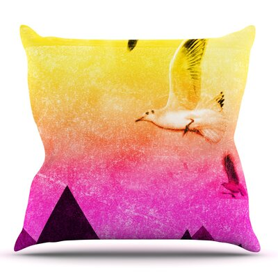 Seagulls in Shiny Sky by Frederic Levy-Hadida Outdoor Throw Pillow