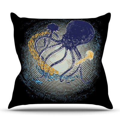 Tentacular Trap by Frederic Levy-Hadida Outdoor Throw Pillow
