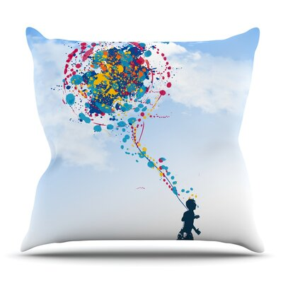Child Creation Chronicle by Frederic Levy-Hadida Outdoor Throw Pillow