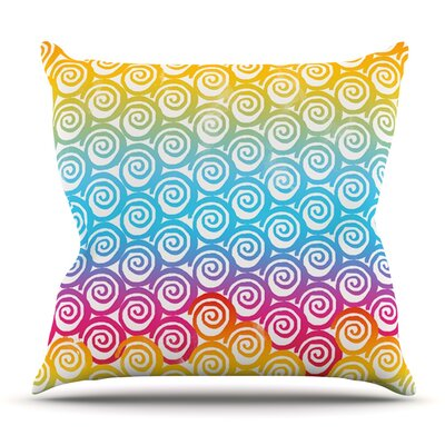 Ethnic Spirals by Frederic Levy-Hadida Outdoor Throw Pillow