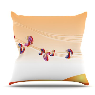 Nature Music by Fotios Pavlopoulos Outdoor Throw Pillow