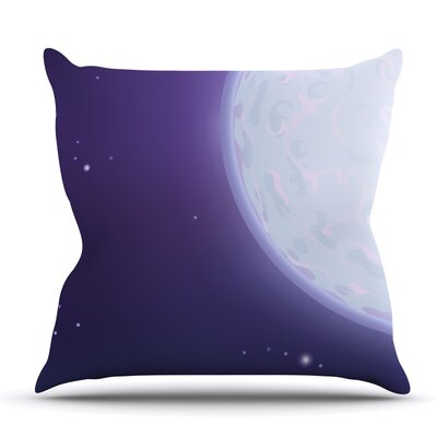 Full Moon by Fotios Pavlopoulos Outdoor Throw Pillow