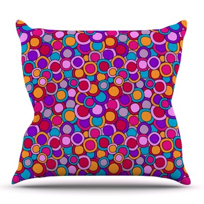 My Colourful Circles by Julia Grifol Outdoor Throw Pillow