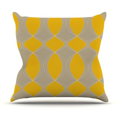 Geometries in by Julia Grifol Outdoor Throw Pillow