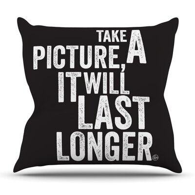 Take A Picture Outdoor Throw Pillow