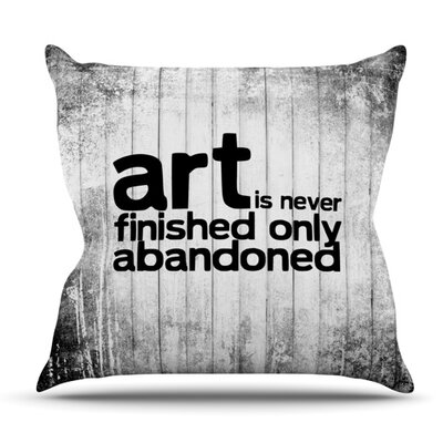 Art Never Finished Outdoor Throw Pillow